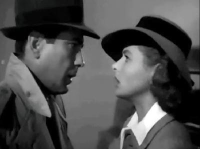 Humprey Bogart y Ingrid Bergman en Casablanca